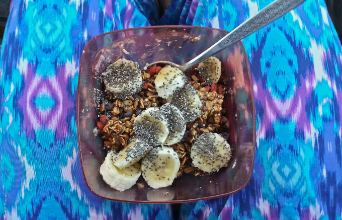 Our first #RealFood30 meal: homemade granola, recipe & process will be coming up in a post!