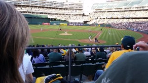 A Father's Day celebration, watching the A's get pummeled by the Yankees. Shitty outcome, made better by the post-game fireworks.