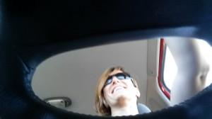 Vikki points Bert's snout north along I-5 en route to Portland.