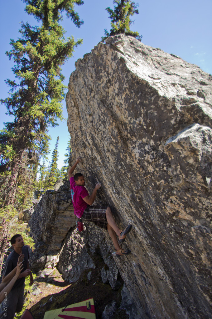 One of the problems that we filmed while there- the crimptastic Peek-A-Poop. The name is an ode to the climbers who originally found the line- with poop underneath the boulder. A reminder to dig a hole or pack it out!