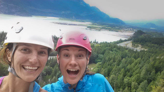 My first Squamish multi-pitch, Skywalker, with Georgie. The beginning of summer.