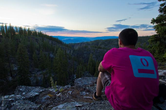 Spenser contemplating life.