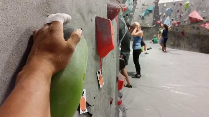 Can I play too? (I may have lightly bouldered, using my thumb and palm of my hand...I couldn't help it!)