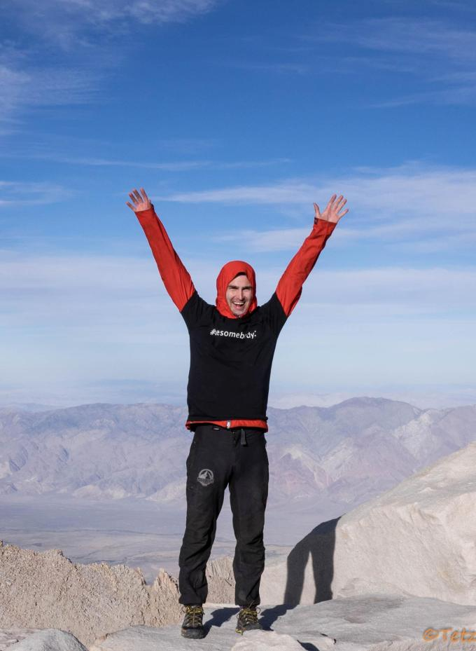 Winning the altitude game. Mt. Whitney.
