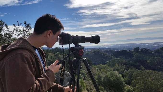 Eliot using a 1000mm lens to explore the Bay Area on a gorgeous Sunday.