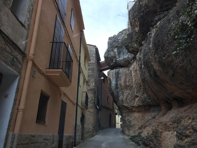 Even the town of Margalef itself is built into the cliffs.