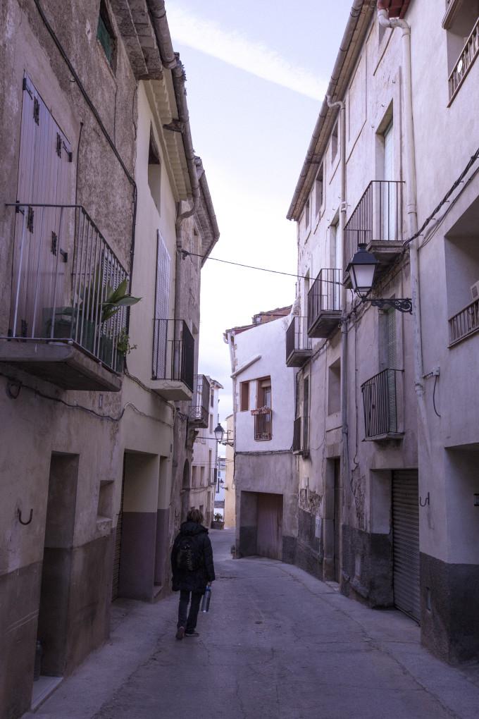 Wandering the windy streets of Corndulla de Montsant.