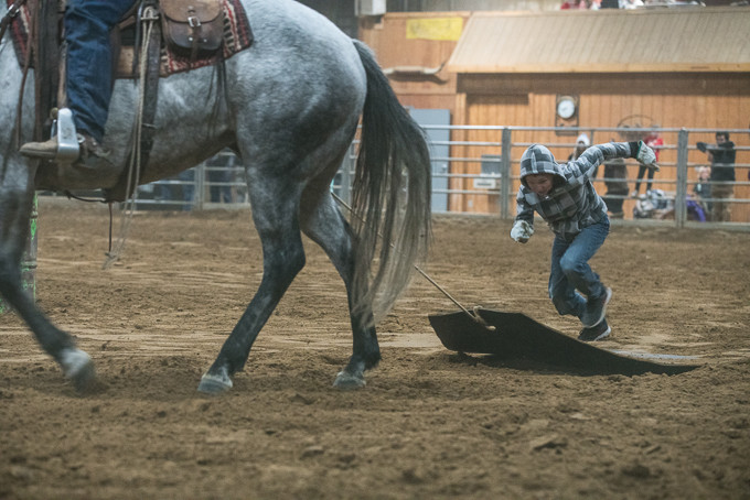 A cowboy comes racing towards you, a hide tied to the back of his horse. This right here is perfect technique! You're racing for time, so you don't want the cowboy to slow down - you want to race towards him.