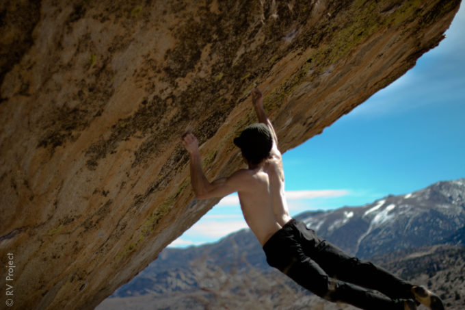 Daniel Woods on the other V16 (or 15?) on Grandpa Peabody, Lucid Dreaming