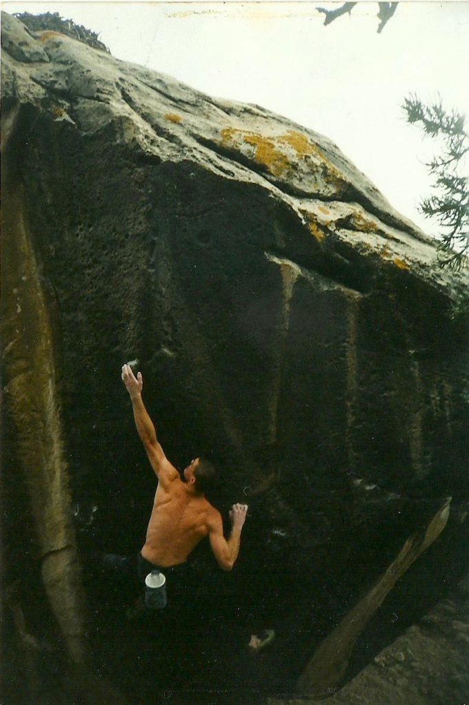 Steve Jeffrey working what would become the most famous climb in Joe's Valley - Black Lung. Photo: Mark Hammond.